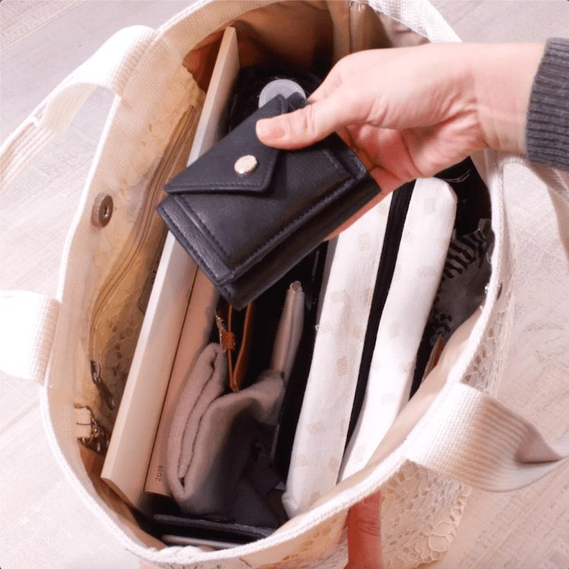 バッグの中の整理術。仕切りを作ってすっきり整頓するには?