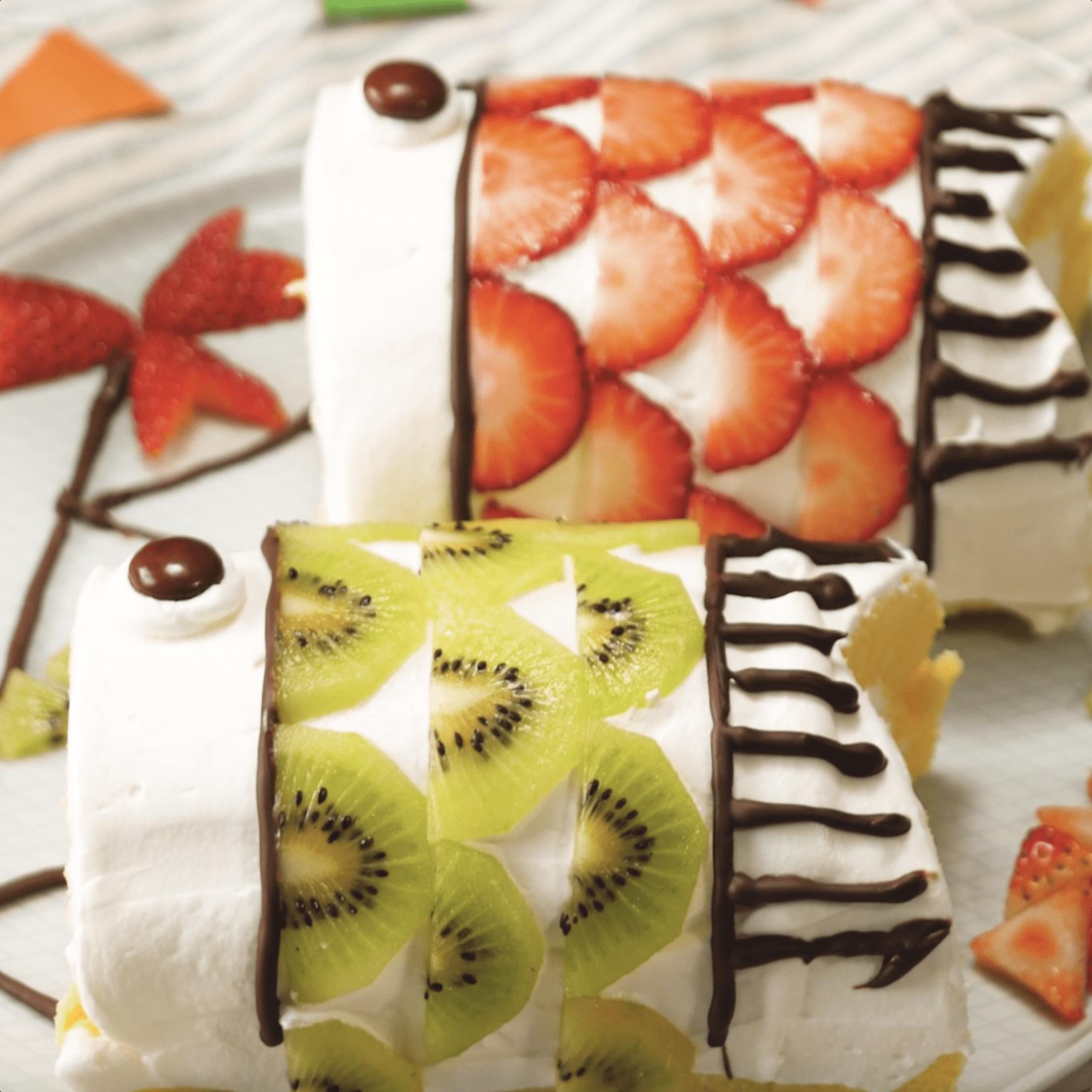 おうちでカンタンに作れる!こいのぼりロールケーキで華やかに